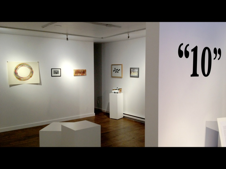 """10"" - art exhibit held at the Harris-Warke Gallery in Red Deer, Alberta, Canada."