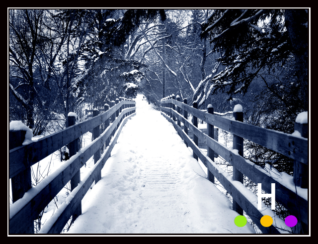 snowy bridge, coronation park, red deer