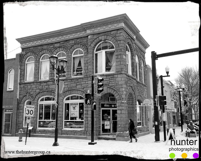 The historical Greene Block (constructed in 1901) located on Ross Street in Red Deer, Alberta.