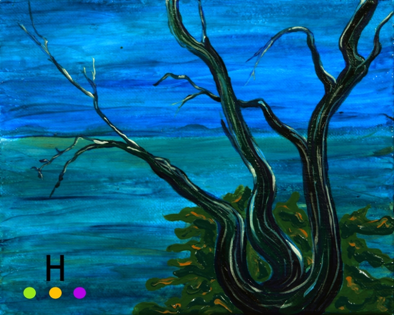 """Night Arbutus"" - Canadian landscape painting"