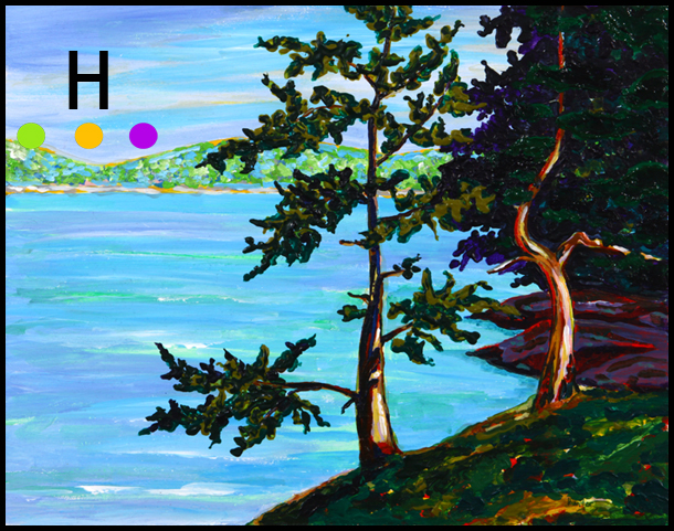 View Through the Trees - Canadian Painting