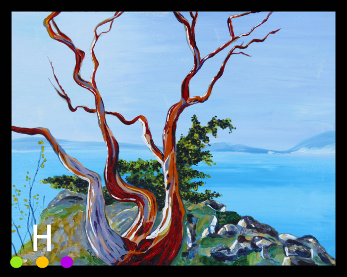 Roe Islet Arbutus #2 (2014) 11x14