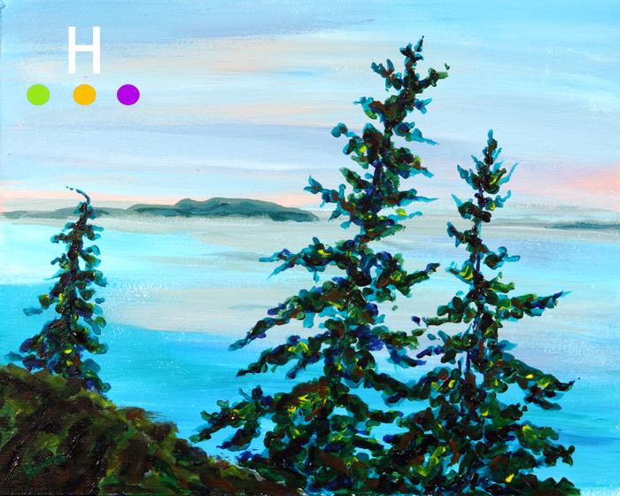 Canadian landscape art - Pender Island landscape painting
