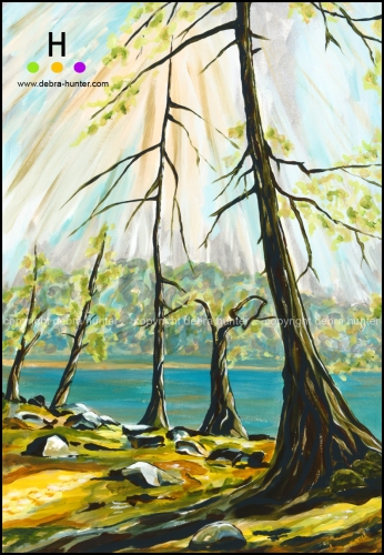 reaching for the sun - canadian landscape painting