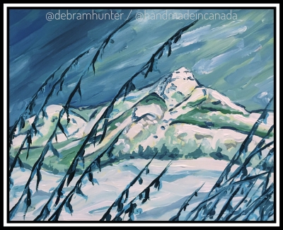 a painting of Kootenay National Park (acrylic on panel)