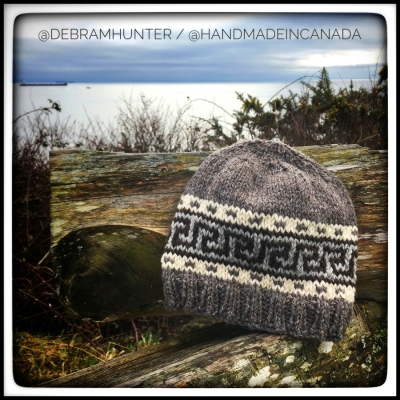 hand knit west coast inspired hat